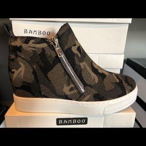 Camo hightop booties